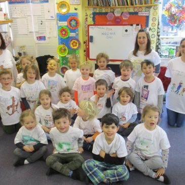 World Book Day – decorating t.shirts!
