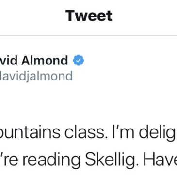 Message from David Almond!