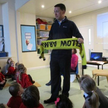 Robert Courts MP visits Rollright!